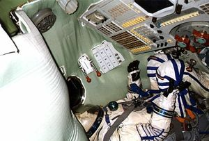 Interior of Soyuz TM